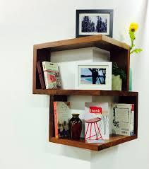 Tronk Design Franklin Shelf Franklin Shelf Solid Wood Corner Shelf