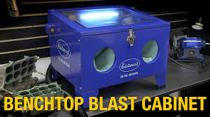 Benchtop Blast Cabinet Home Media Blasting Solution Remove Rust With Benchtop Blast