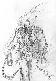 ghost rider drawing. ghost rider colour contest by saintyak drawing