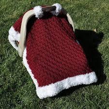 santa baby car seat canopy crochet pattern