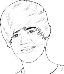 Small Picture Justin Bieber Printable Coloring Page Of For Justin Bieber
