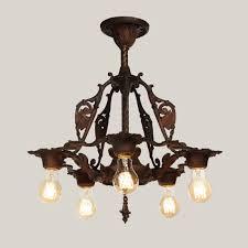 spanish revival lighting. Antique Spanish Revival Chandelier With Shields Overall Lit Lighting N