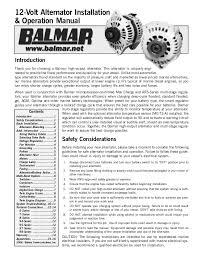 12 v alternator manual w 90series drawing 12 volt alternator installation operation manual introduction thank you for choosing a balmarr high