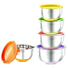 best stainless steel mixing bowls 5 piece bowl set with colorful lids non williams sonoma s