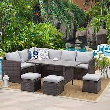 wisteria lane patio furniture set 7 pcs
