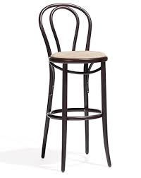 Bentwood Barstool No 18 Upholstered Thonet Bar Stool U43