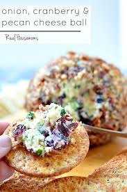 Onion Cranberry and Pecan Cheese Ball is a delicious make ahead appetizer  that is perfect for. Holiday PartiesChristmas ...
