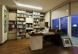 apartment home office. istanbul luxury apartment modern home office with fancy desk and bookcase