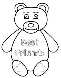 Small Picture Teddy Bear Best Friends Coloring Page Animals