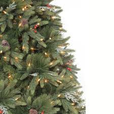 Holiday Time PreLit 9u0027 Slim Winter Frost Pine Artificial Artificial Christmas Tree 9ft