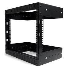 8u Wall Mount Cabinet Amazoncom Startechcom 8u Open Frame Wall Mount Equipment Rack