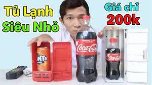 Lâm Vlog - Dùng Thử Tủ Lạnh Mini Nhỏ Nhất Thế Giới Giá 200k | Mini Fridg...