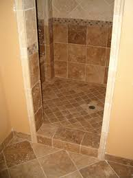 charming tile ideas for bathroom. Astounding Charming Doorless Showers And Pictures Of Tiled Brown Ceramic Floor Tile Ideas For Bathroom