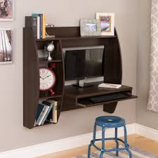 wall mounted office desk.  Wall Espresso Wall Mounted Office Desk With Keyboard Tray To