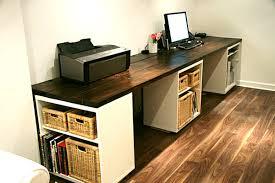 Large DIY Desk With Three Storage Shelves