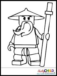Small Picture Lego Ninjago Zane Lego Ninjago Coloring Pages