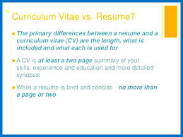 Cv And Resume Difference Noxdefense Com