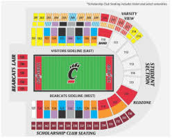 Nippert Stadium Seating Chart With Rows Nippert Stadium Nipper Stadium Review Uc Football Stadium