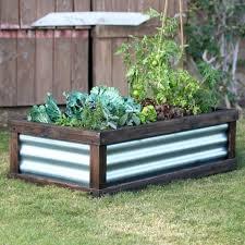 c coast corrugated metal wood raised garden bed x beds uk