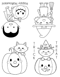 These Cute Mini Halloween Coloring Books