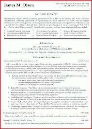 Beautiful Accounting Resume Format Mailing Format