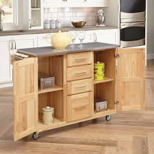 Breakfast Bar For Kitchen Home Styles Stainless Steel Top Kitchen Cart With Breakfast Bar