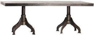 metal design furniture. Industrial Metal Double Pedestal Dining Table Metal Design Furniture