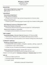 High School Resume For College Best 10016 High School Resume For College Gentileforda