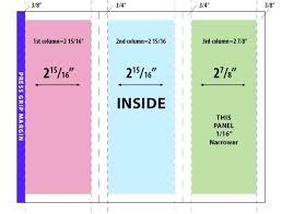 4 Sided Brochure Template 6 Sided Brochure Template Restaurant Definition Science Margines Info