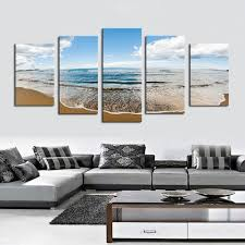 sprawling beach 5 piece canvas bigwallprints 1 on 3 panel wall art beach with panel art multi panel wall art on canvas bigwallprints