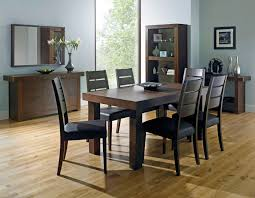 bentley designs akita walnut 4 6 end extending dining table 4 slatted chairs me home furnishings