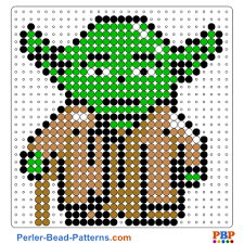 Perler Bead Pattern Custom Star WarsYoda Perler Bead Pattern And Designs Bead Sprites