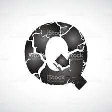 Alphabet Q Modern Design with different style. Q Letter on white background  royalty-free