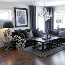 living room dark living rooms black