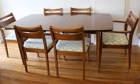 mid century modern dining chair set and broyhill brasilia dining table picked vine