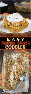 easy pumpkin crunch cobbler a crunchy streusel topping and creamy pumpkin filling makes this dessert