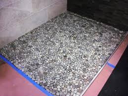 Diy Bathroom Floors How To Lay A Pebble Tile Floor How Tos Diy