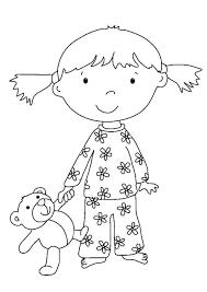 Kleurplaat Meisje Met Knuffel Afb 7324 Images