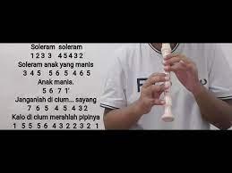 Not angka soleram seputar musik. Not Angka Lagu Daerah Soleram Recorder Cover Not Angka Pianika Recorder Lagu Daerah Soleram Youtube