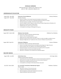 Military Resume Builder Resume