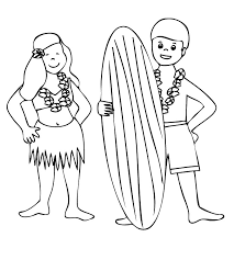 Small Picture Hawaiian Themed Coloring Pages For Kids And For Adults