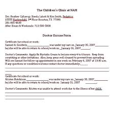 Houston Doctors Note Doctor Note Sample Template Pitsel