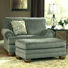 Large Chair And Ottoman Oversized With Slipcover  S   W34