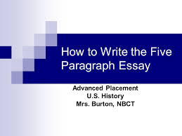 how to write the five paragraph essay ppt video online how to write the five paragraph essay