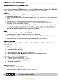 Sample Resume Templates For Office Manager Medical Office Ma Rs