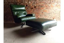 leather swivel chair with ottoman stunning leather swivel chair armchair ottoman mid century green annaldo leather