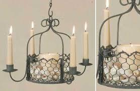 en wire hanging basket chandelier