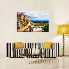 2018 one picture combination canvas paintings mediterranean villas modern wall art print on canvas art wall decor home decoration for living room from  on mediterranean canvas wall art with 2018 one picture combination canvas paintings mediterranean villas