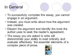 an in depth look at the rhetorical analysis essay question ppt in general to successfully complete this essay you cannot engage in an argument instead