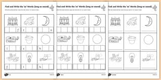 Phonics videos with phonogram sounds for reading fluency. Find And Write The Long Oo Words Sound Worksheet
